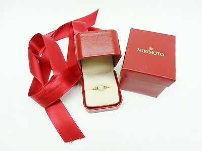 Mikimoto Akoya 585 Yellow Gold Single Pearl Ring Size 6