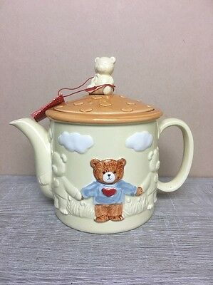 VTG Enesco Lucy and Me Teddy Bear Teapot with Tag - Collectible Giftware