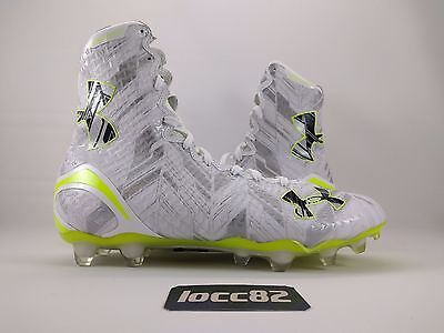 UA Under Armour Highlight MC Football Cleat (1264188-102) White Volt untouchable