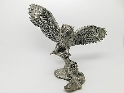 Hamilton Mint Pewter GREAT HORNED OWL The Birds Sculptures of D. Corsini Signed