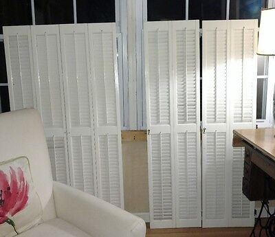 Interior /colonial/traditional Solid Wood Plantation Shutters Two Sets Available