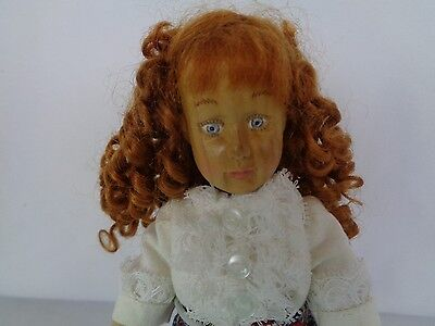 Wooden Doll Raikes Kaitlyn All Original Mint w/ Wooden Hang Tag Hand Signed 9""