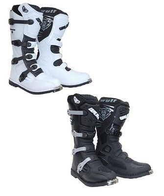 Wulf Track Star Motocross Boots Off Road Sports Leather Dirt Bike ATV All Sizes