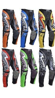 Wulf Attack Adult Motocross Off Road Pants MX Enduro Trousers all sizes