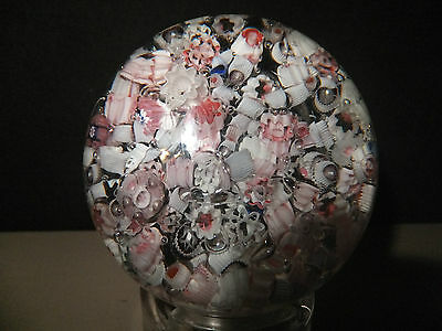 Antique Old American? Old English? Millefiori Scramble End of Day Paperweight