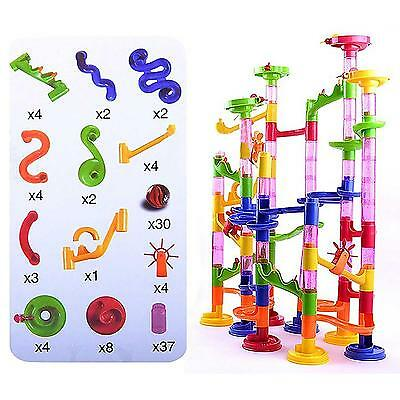 105Pcs DIY Construction Marble Race Run Kids Toy Game Building Block Tower New