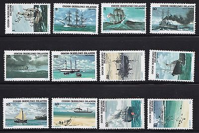 Stamps Cocos (Keeling) Island - 1976 Lot Ships - Mint.