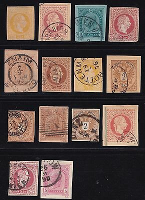 Stamps Austria - Mixed Lot of Cutouts - Various Condition.