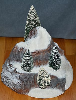 """Department 56 Heritage Village """"Small Mountain with Frosted Sisal Trees"""""""