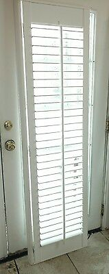 "Interior Solid Wood Plantation Shutter  2 1/2"" Louvers White 18 3/8"" W × 71 1/4"""