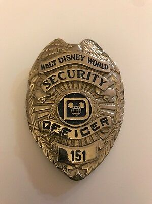 Disney Pin WDW Vintage Security Officer Shirt Badge AS IS
