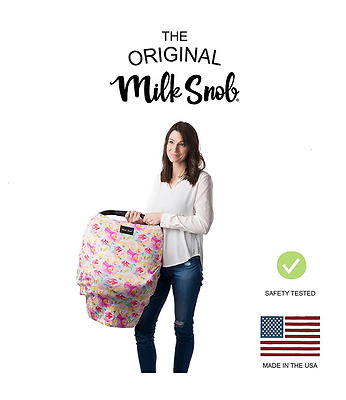 AS SEEN ON SHARK TANK The Original Milk Snob Infant Car Seat Cover and Nursing C