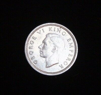 New Zealand 3d Three Pence George VI 1940 KM# 7 Silver