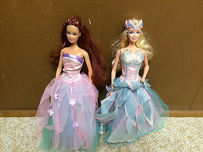 Barbie Doll Of Swan Lake Princess Odette & Teresa The Fairy Queen Lot