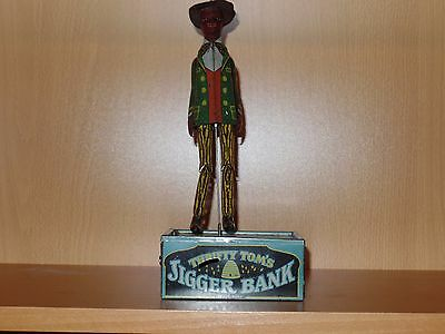 Strauss Coin Operated Tin Wind-up 1918 THRIFTY TOM'S JIGGER BANK ( Mechanical )