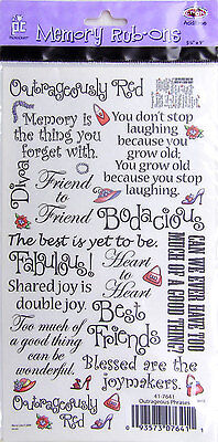 ProvoCraft Memory Rub-ons ~ Outrageous Sayings