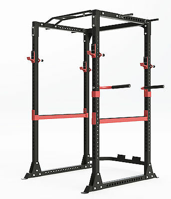 Power Rack Multi 5 Way Chin Up Dip Handles Safety Bars J Hooks + Pull Ups