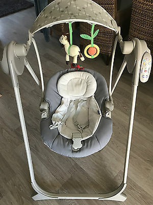 Chicco Babyschaukel Polly Swing Up Silver mit Fernbedienung, Vibrationsfunktion