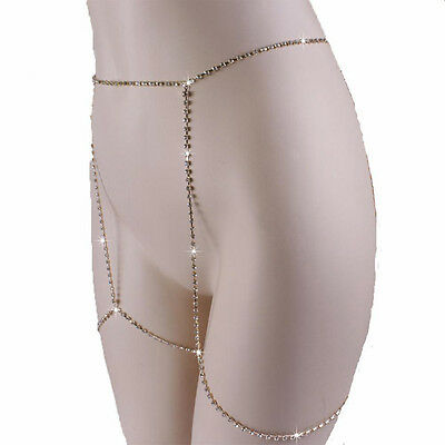 Delux Jewelry Thigh Leg Crystal Chain Harness Body Garter 1PC Enjoy Summer