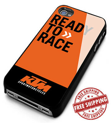 New KTM Ready To Race Motorcycle Logo Apple iPhone 4 5 6 7 S PLUS Case Cover