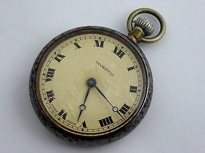 Vintage Invectic Swiss Mechanical Pocket Watch Needs Work  LAYBY