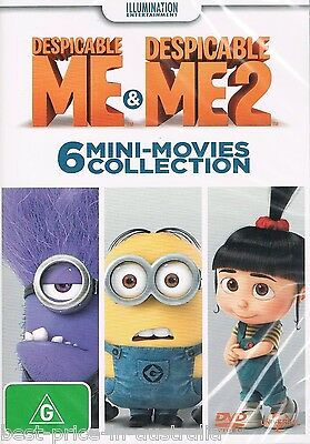 Despicable ME & Despicable ME 2: 6 MINI-MOVIES Collection DVD NEW NEW RELEASE R4