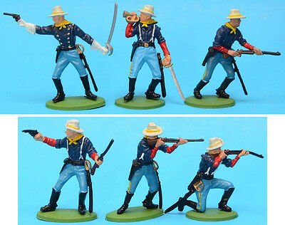 BRITAINS Herald Dismounted 7th Cavalry 1/32 54mm figures toy soldiers DSG