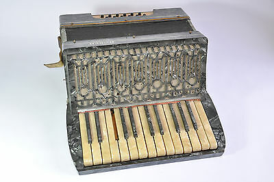 Vintage Horch German Piano Accordion Grey