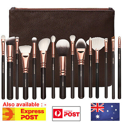 15PCS Makeup Brush Set Cosmetic Complete Eye Kit Powder Rose Golden Brushes