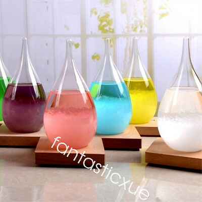 Weather Forecast Crystal Drop Water Shape Storm Glass Decor