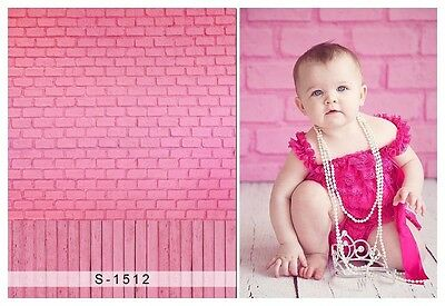 Baby Kids Cute Pink Wall Background Studio Props Vinyl Photography Backdrops