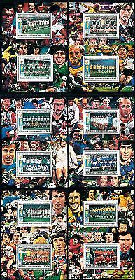 [59544] Central African Rep. 1981 World Cup Football Spain 12 Single sheets MNH