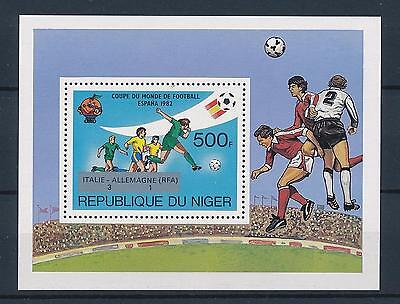 [59509] Niger 1982 World Cup Soccer Football Spain with ovp silver MNH Sheet