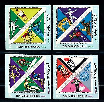 [60338] Yemen Yar 1972 Olympic games Fencing Horse Cycling Imperforated MNH