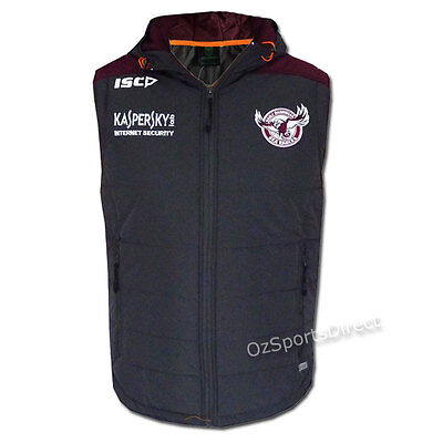 NRL Manly Sea Eagles Team Padded Vest Sz MEDIUM *SALE PRICE*