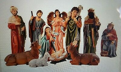 NEW - Christmas LARGE Nativity Set 11pc - 47x23x17cm - Almost life size!