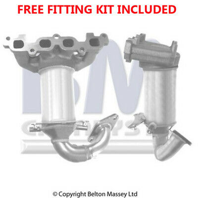 Fit with FORD FIESTA Catalytic Converter Exhaust 91187H 1.2 (Fitting Kit Include