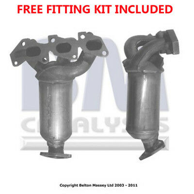 Fit with VAUXHALL AGILA Catalytic Converter Exhaust 91018H 1.0 (Fitting Kit Incl