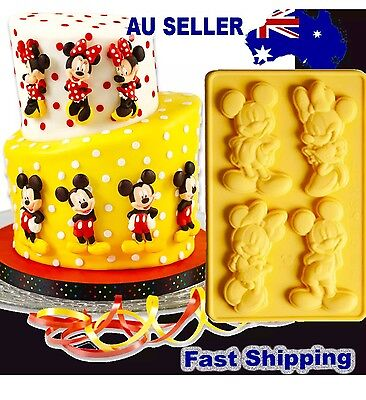 Mickey Minnie Mouse Disney Silicone Cake Fondant Sugar Mould Mold DIY Baking Gum