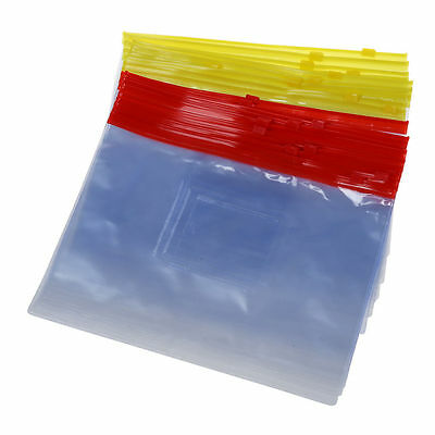 20PCS Plastic Slider Zip Lock Bags Files Holder for A5 Paper PK