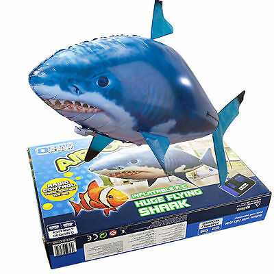 kid toys Remote Control Inflatable Balloon Air Swimmer Nemo Shark Blimp UK sell