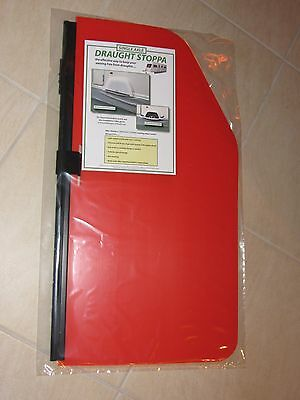 Awning Wheel Draught Stoppa -  Single Axle Caravan  Colour RED