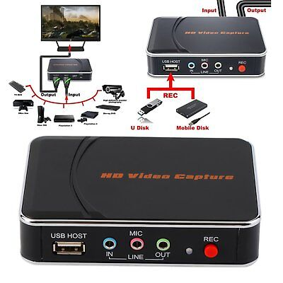 NEU HD 1080p HDMI / YPbpr Game Capture Recorder HD Video Recorder Videoaufnahme