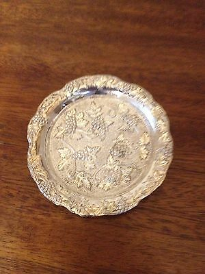 Vintage Silver plated fruit mini Tray - coaster