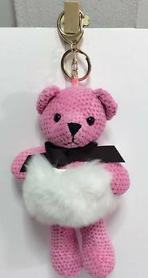 Rabbit Stuffed Yarn &Fur Mink Animal Plush Toy Bean Bag Key Chain Boys Girls
