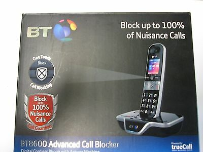 BT 8600 Single With Answer Machine & Nuisance Call Blocking New