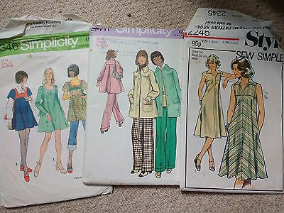 3 vintage sewing patterns. Size 14. Simplicity and Style