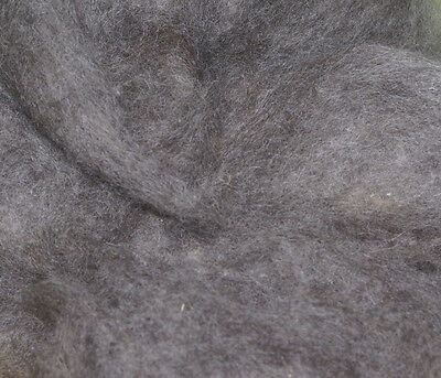 200g GREY FINNISH CORE WOOL / needle felting / spinning / wet felting