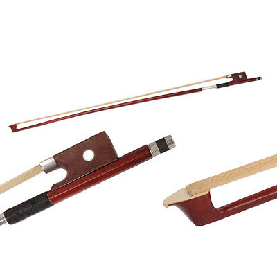 New 3/4 Size Violin Fiddle Bow Round Arbor Stick Real Horsehair