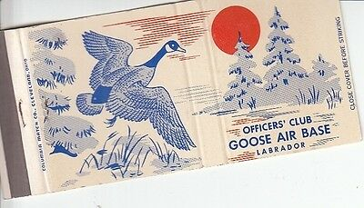Officers' Club Goose Air Base Labrador Canada Illustrated Vintage Matchcover